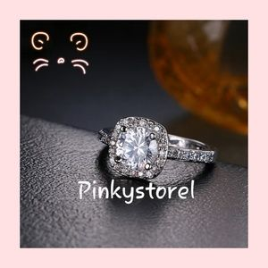 💎Romantic White Gold Crystal Ring💎